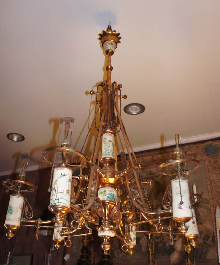 Antique Lighting From The Drawing Room Of Newport Antiques